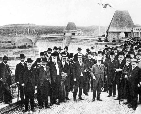 Einweihung der Möhnetalsperre am 12. Juli 1913