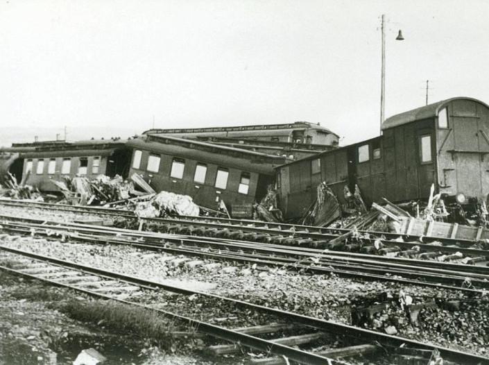 Entgleiste Züge bei Fröndenberg